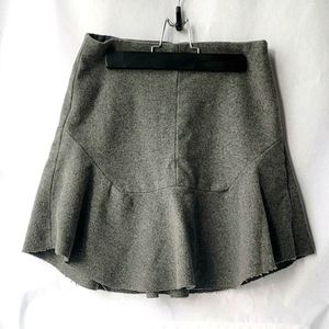 Madewell Atelier Grey Wool Blend Skirt in size 2
